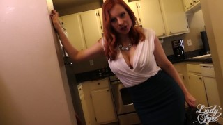 Summer Visit to Auntie's House -Lady Fyre Virtual Sex  olivia fyre hairy pussy point of view redhead mom masturbate pov milf kink butt heels mother aunt embarrassed reluctant virtual sex