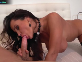 Sexy Milf Lisa Ann sucking a dick and screwing