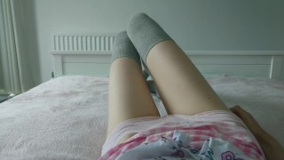 little girl misses her daddy and comes for him | loud intense orgasm  point of view teasing masturbate young vibrator stockings teenager ddlg adult toys cute teen little girl magic wand age play daddys little girl cute girl trembling orgasm