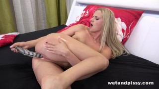 Wetandpissy - Dildo play for piss soaked blonde babe Katy Sky