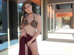 Tall Leggy Eva Cosplay and Public Nudity on FTVGirls.com