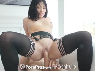 PornPros Big dick fuck and facial with soaking wet Rina Ellis