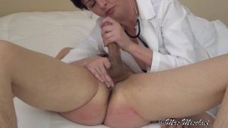 Let's Play Doctor (femdom)  strap on ass fuck pegging medical big cock femdom anal dildo femdom doctor cumshot prostate kink mrs mischief orgasm control ruined orgasm fucking his ass