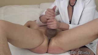 Let's Play Doctor (femdom)  strap on ass fuck fucking his ass pegging big cock femdom anal femdom cumshot prostate kink orgasm control dildo medical mrs mischief doctor ruined orgasm