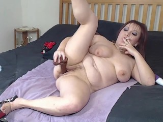 Smoking BBC Dildo Webcam Show - Taking Your Black Cock Inside Me Fantasy