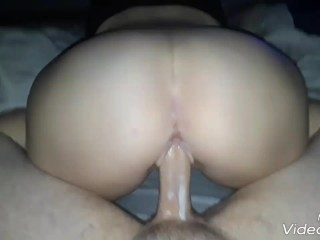 Riding daddy's cock than he fucks me hard