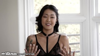 MyXXXPass Saya Song Nice and Sloppy Throating  point of view sloppy lingerie korean asian blowjob small tits petite rough gagging deepthroat tattoos deepthroating throated natural tits myxxxpass