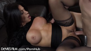 DevilsFilm Slutty Mom Squirts for Sons Best Friend  high heels masturbation squirt mom blowjob milf squirting mother orgasm stockings pussy licking pussy eating devilsfilm cougar stepmom female ejaculation