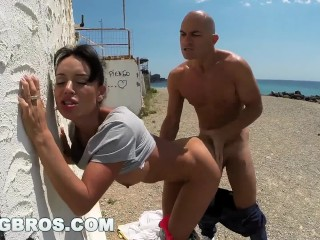 BANGBROS - Franceska Jaimes's Big Spaniard Ass Fucked in Public!