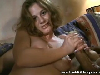 Sexxy MILF is Giving a Handjob