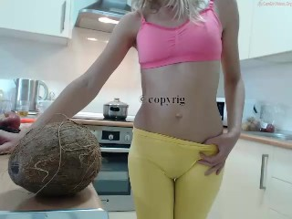 Very sexy babe having fun in kitchen no nudity chaturbate live show Replay