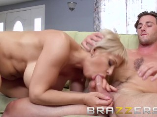 Stepmom Teases Her Stepson With Her Big Tits - Brazzers