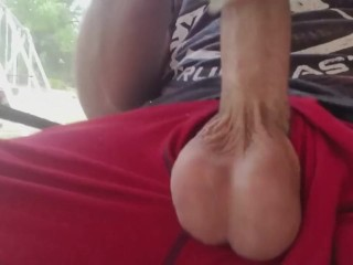 Fucks Toy Pussy with Think Cock Drips Massive Load