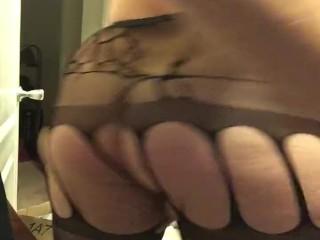 Cum Shot in jockstrap stockings