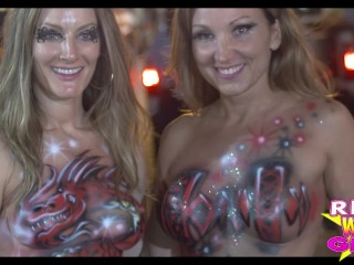 Fantasy Fest Naked Sluts Key West Street Party1