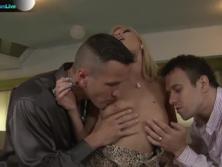 Beautiful Donna Bell takes Choky Ice and Titus Steels cocks