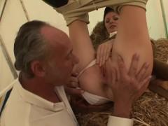 PAWG Horse Trainer CAROLINE DE LYS Fucks Old Big Dick Rich Man