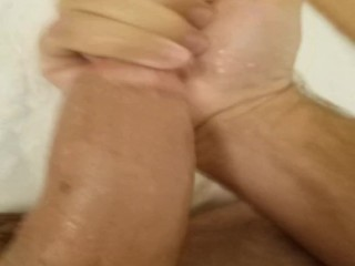 Stroking MY Nice BIG HARD COCK