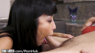 Throated Marica Hase Shows Intense Love for Sucking Dick  point of view tease asian blowjob pov japanese brunette deepthroat big boobs deepthroating throated gag gagging cum in mouth sloppy lingerie
