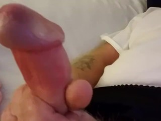 Jerking my cock off again! Keeping that prostate healthy.