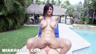 MIA KHALIFA - Big Tits Arab Pornstar Fucks Sean Lawless Poolside
