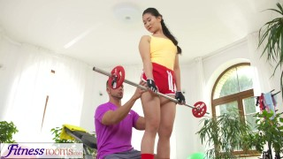 Fitness Rooms Hardcore gym fucking and facial for cute Asian babe  big cock kissing female orgasm innocent asian blowjob small tits fitness fitnessrooms facial cum in face black hair natural tits hardcore sex female friendly shaved pussy