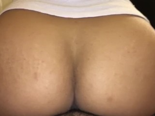 Wife rides dick so good couldn't keep the cum in