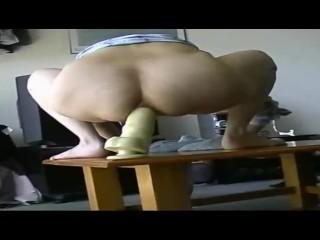 Standing anal dildo