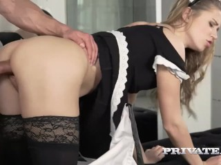 Mary Kalisy, debuts in Private as a Slutty Maid