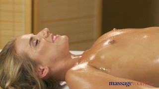 Preview 2 of Massage Rooms Anal creampie fucking for sexy young tanned Russian babe