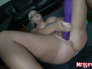 Wife Stretching Pussy at Swingers Club