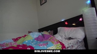 SisLovesMe - Petite Step Sis Sleeps In My Bed  step siblings point of view small redhead cumshot stepbro smalltits petite shaved sislovesme stepsis bigcock facial small frame step brother briar rose step sister