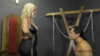 Mistress Jenna Ivory Humiliates and Uses Her Asian Slave - Femdom  ass worship verbal humiliation spanking face sitting bdsm femdom sph blonde busty kink butt foot worship meanamazonbitches mean bitches ass licking jenna ivory lick her asshole