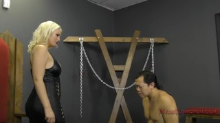 Mistress Jenna Ivory Humiliates and Uses Her Asian Slave - Femdom  ass worship verbal humiliation spanking face sitting bdsm femdom sph blonde busty kink butt meanamazonbitches foot worship ass licking jenna ivory mean bitches lick her asshole