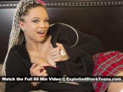 Innocent Ebony Teen turns slutty in School Girl Porn Video