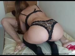 Tiny Horny Teen gets multiple orgasms Riding Hard !!! (POV CREAMPIE)