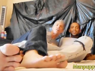 Giant Ebony & DILF Fuck with Tiny Intruder - Macrophilia