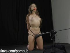 Kneeling, Post Tied, & Made to Cum