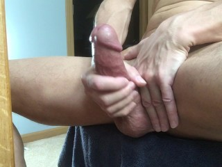 Post penis pumped cock cumshot