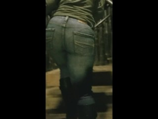 Creepshot at the Themepark with Thick PAWG Velvet Diablo in Tight Jeans
