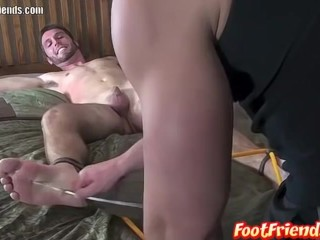 Perverted twinks Blake and Frank have bondage freak show