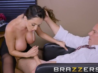 Busty Brunette CEO Wants To Suck A Big Cock - Brazzers
