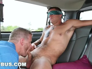 BAITBUS - Jeremy Stevens and Jace Chambers Have Gay Sex in a Van