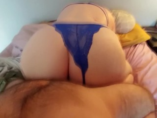 PAWG In Blue Gets A Quickie