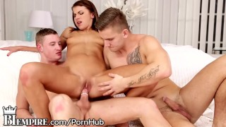 BiEmpire 2 Hot Guys and 1 Hot Chick Play with Each Other  bi empire cum on tits bi sexual biempire cumshot bisexual bi bisex hunk european mmf shaved pussy licking pussy eating bisexual male bi sex