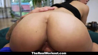 TeamSkeet - Sexy Asian Brutally Fucked After Workout  big cock asian fit fitness therealworkout spandex teamskeet exercise workout brunette reality jade kush shaved facial gym short cum shot