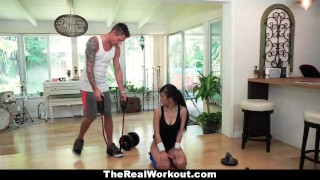 TeamSkeet - Sexy Asian Brutally Fucked After Workout  big cock asian fit fitness therealworkout spandex teamskeet exercise workout brunette reality shaved facial gym short cum shot jade kush