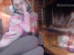 MILFS Fireplace cozy skype call recorded