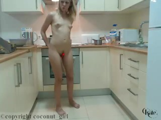 Kate Naughty Chef Gets Naked In The Kitchen