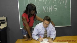 Preview 1 of Black Student Seduces Her Teacher Into Becoming Her Slave- Ana Foxxx Femdom